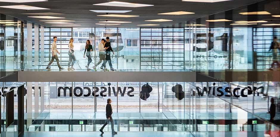 Swisscom building entrance