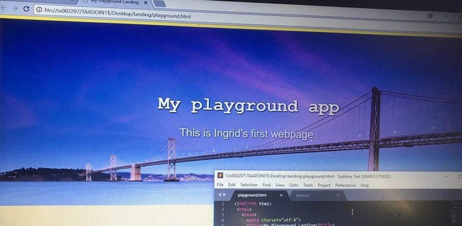 Browser mit Bild und Code
