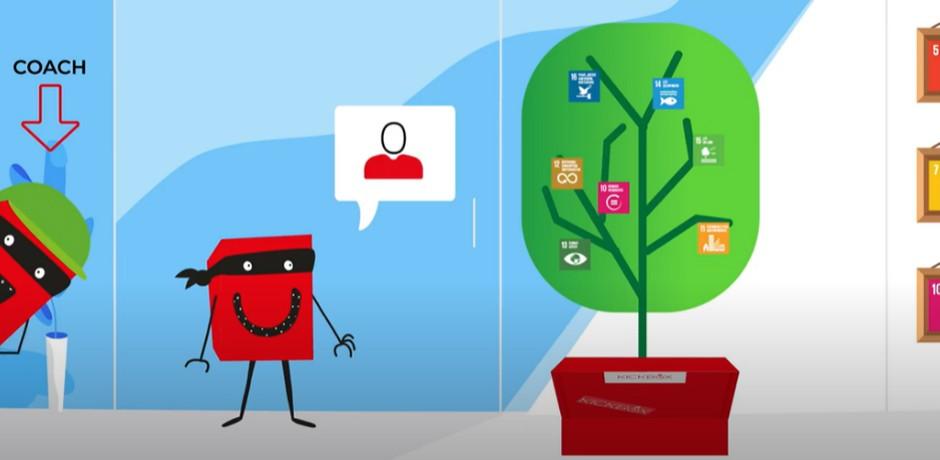 Figuren mit Baum