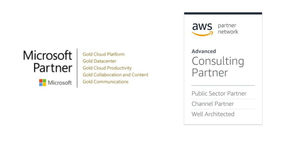 Microsoft and AWS Service Partner Graphic