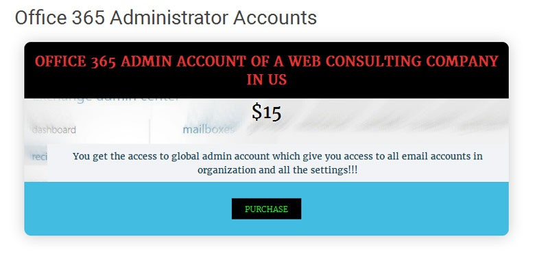 office 365 Administrator Account