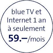blue TV und Internet 1 Jahr nur 59.-/Mt.
