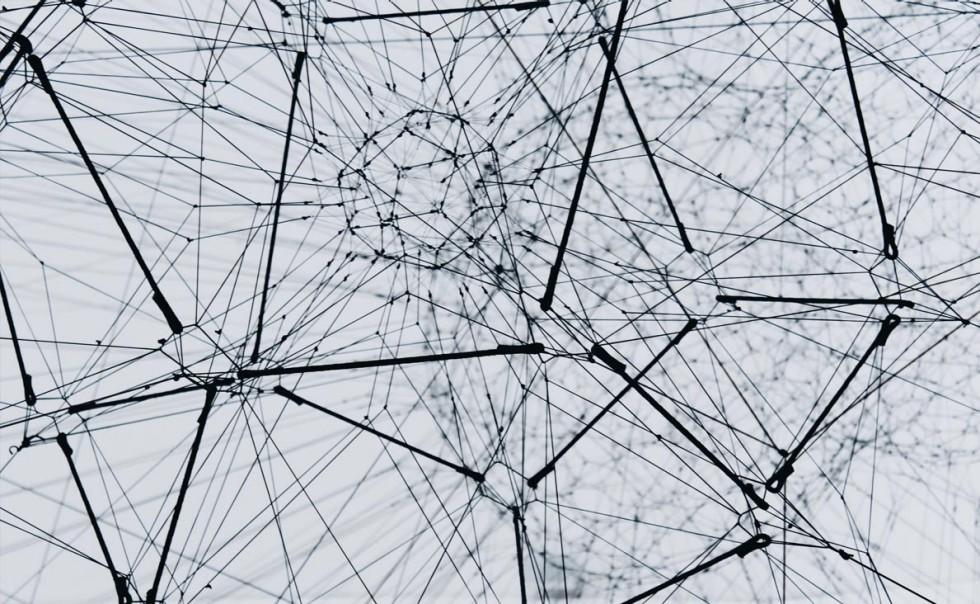 Netz aus schwarzen Linien