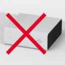 Falsch: WLAN-Box liegend platziert
