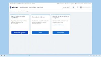 Registering a business mobile in My Swisscom