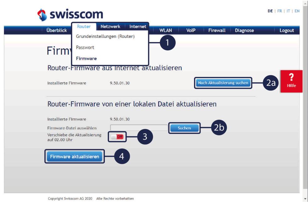 Swisscom Centro Business 2.0 - Firmware Update