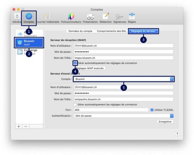 Guide d'installation des courriels Étape 2