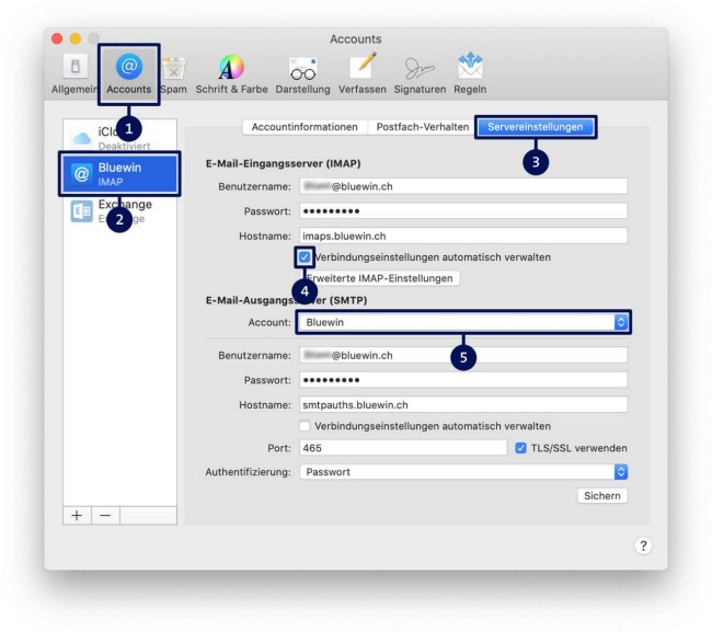 Email einrichten Anleitung Schritt 2