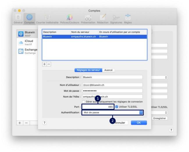 Guide d'installation des courriels Étape 4