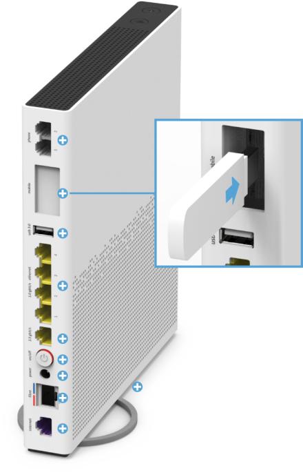 Swisscom Internet-Box 3 - Rückseite USB 3.0 Einschubfach