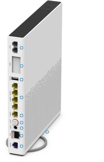 Swisscom Internet-Box 3 - Rückseite