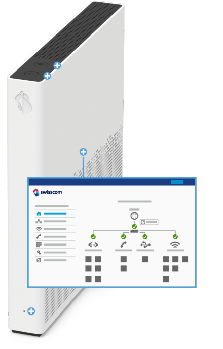 Swisscom Internet-Box 3 - Vorderseite Web-Portal