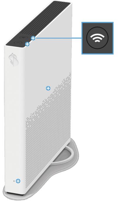 Swisscom Internet-Box 3 - Vorderseite WLAN Taste