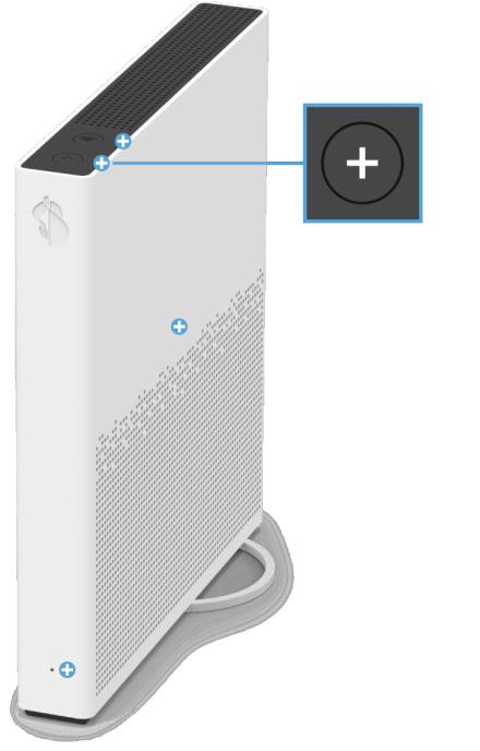 Swisscom Internet-Box 3 - Vorderseite Pairing / Verbindungstaste