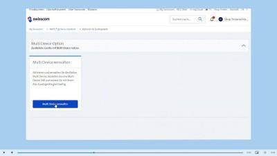 Multi Device Option aktivieren in My Swisscom