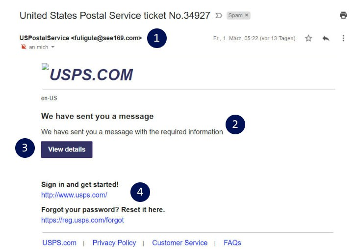 Example e-mail de phishing