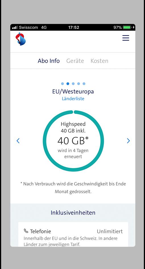 mobile daten schweiz