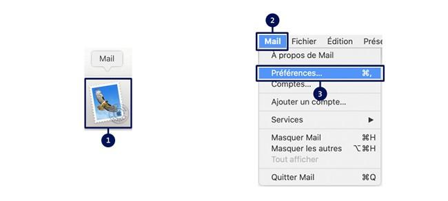 Guide d'installation des courriels Étape 1