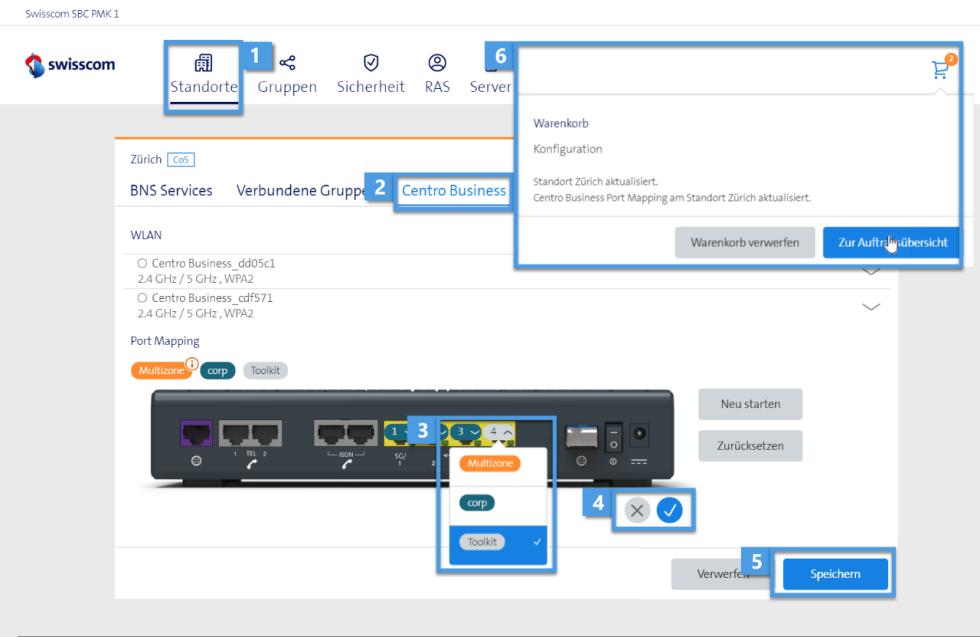 Dashboard Internet Backup