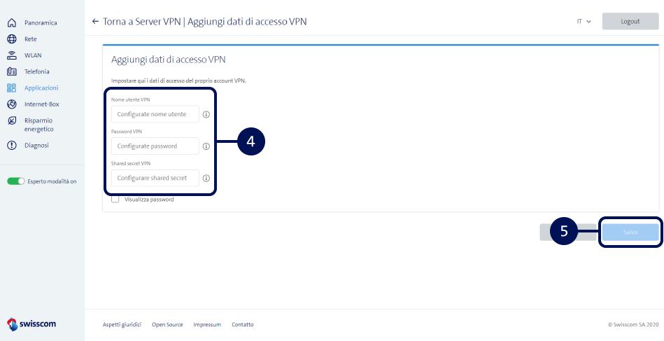 Screenshot VPN auf der Internet-Box aktivieren