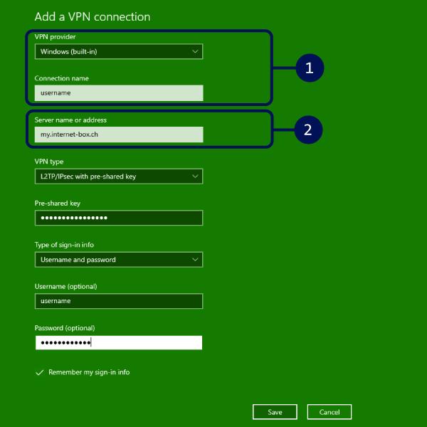 Add a VPN connection part 1