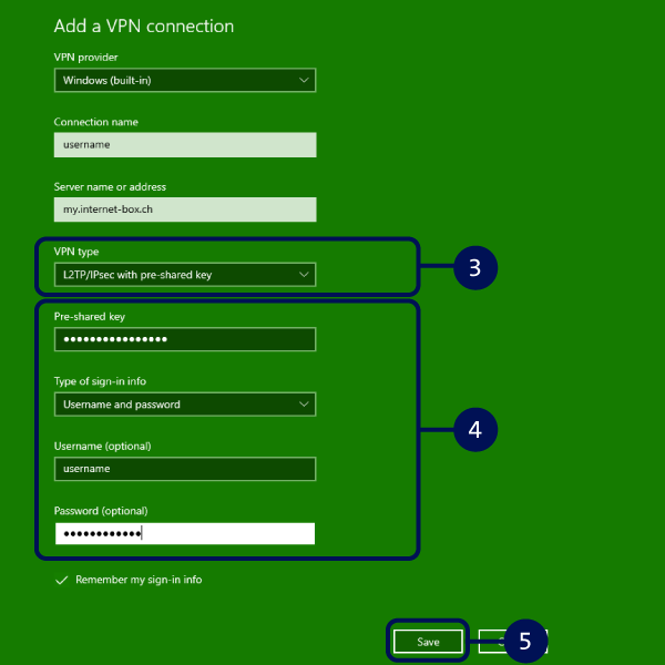 Configurer VPN Windows