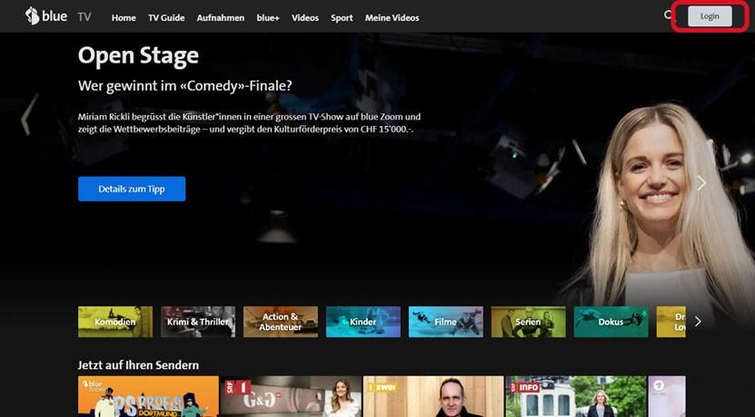 Schritt 1 Aufnahme wiederherstellen blue TV Box HD