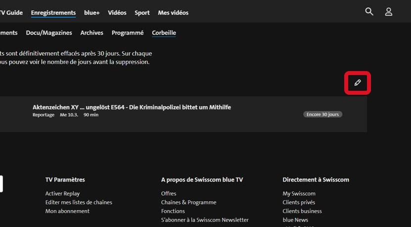 Étape 3 Restaurer l'enregistrement de la blue TV Box HD