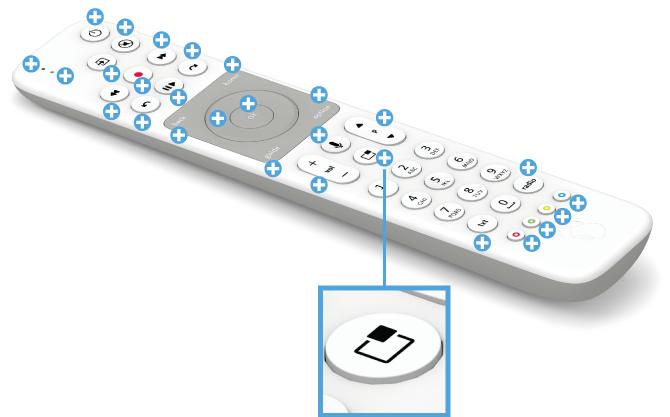 Swisscom blue TV Fernbedienung mit Voice Assistant - Sender wechseln