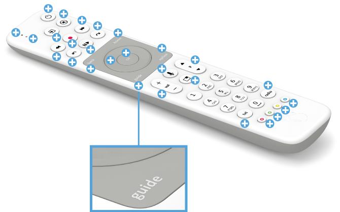 Swisscom blue TV Fernbedienung mit Voice Assistant - TV Guide