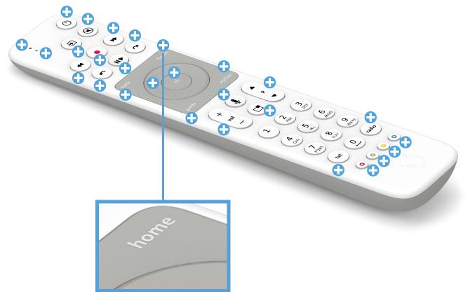 Swisscom blue TV Fernbedienung mit Voice Assistant - Home