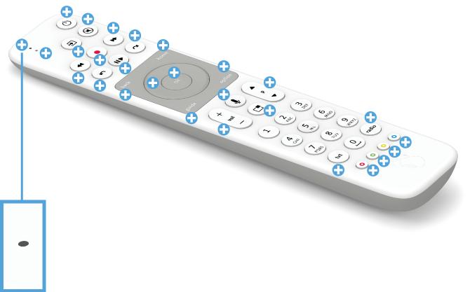 Swisscom blue TV Fernbedienung mit Voice Assistant - LED Lämpchen