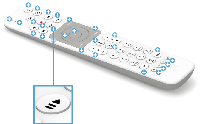 Swisscom blue TV Fernbedienung mit Voice Assistant - Live Pause