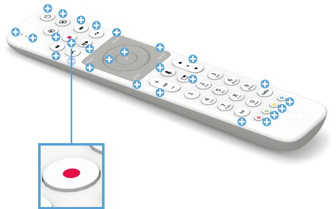 Swisscom blue TV Fernbedienung mit Voice Assistant - Aufnahmen