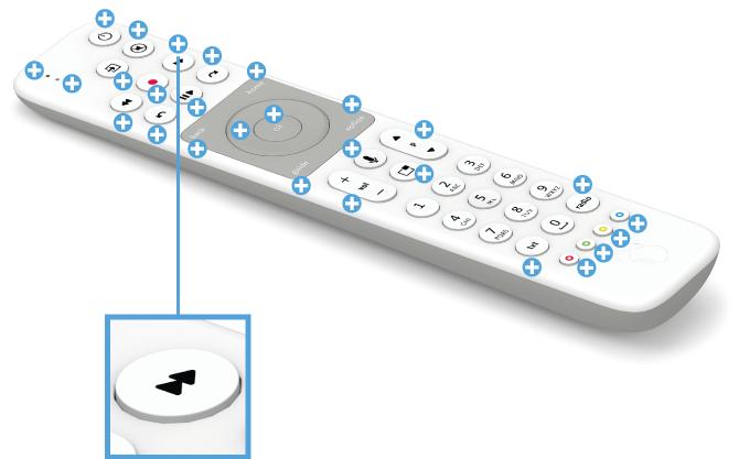 Swisscom blue TV Fernbedienung mit Voice Assistant - Vor- und Zurückspulen