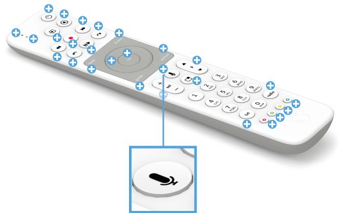 Swisscom blue TV Fernbedienung mit Voice Assistant - Sprachsteuerung