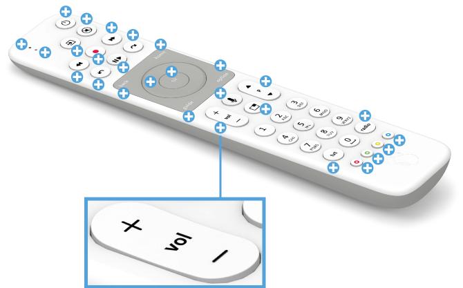 Swisscom blue TV Fernbedienung mit Voice Assistant - Volumen