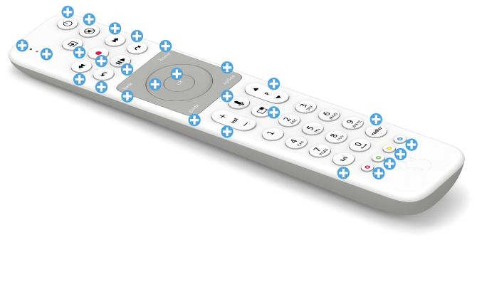 Swisscom blue TV Fernbedienung mit Voice Assistant -