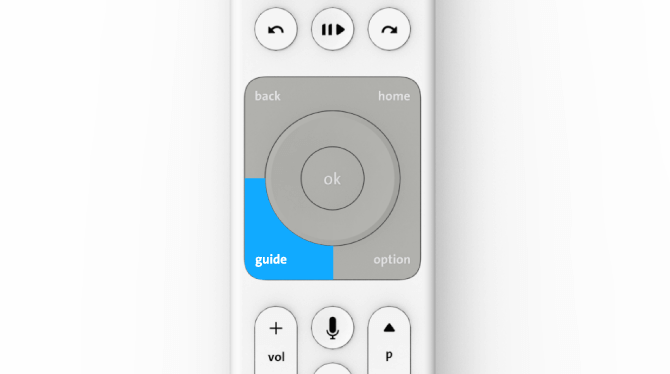 "Swisscom TV-Box Press the ""guide"" button"