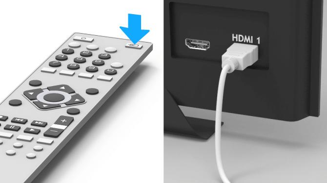 Swisscom TV-Box Select the HDMI channel