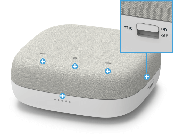Swisscom Box - Vorderseite Mikrofon-Schalter