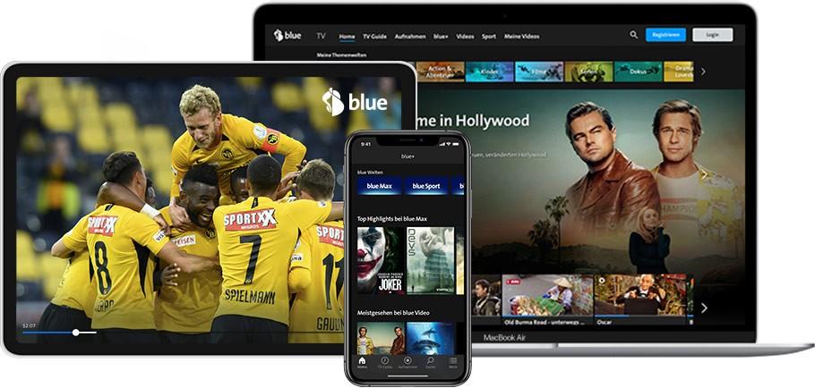 Swisscom blue TV App Geräteübersicht (Laptop, Smartphone oder Tablet)