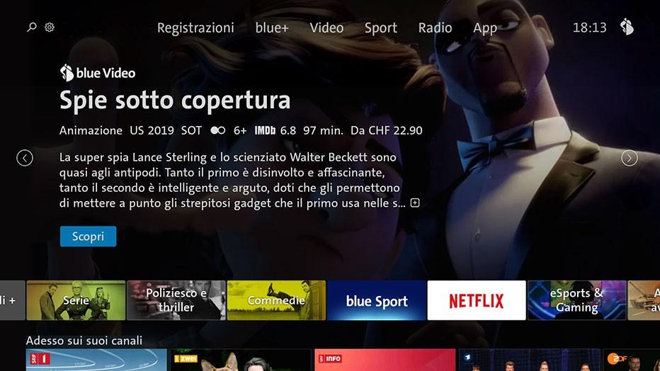 Swisscom blue TV  - TV Screen