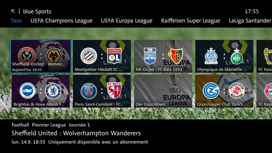 Swisscom blue TV  - blue Sports