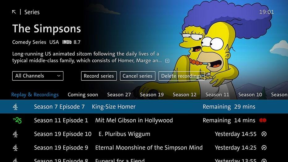 Swisscom blue TV  - Series