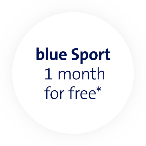 blue Sport 3 Monate geschenkt*