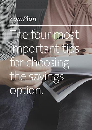 Checklist choice of savings option Titel