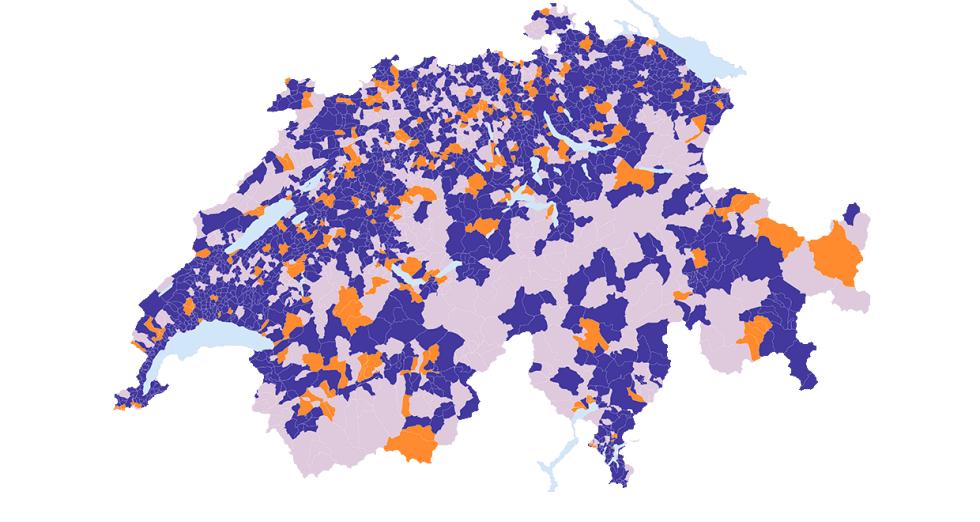 Karte Glasfaser