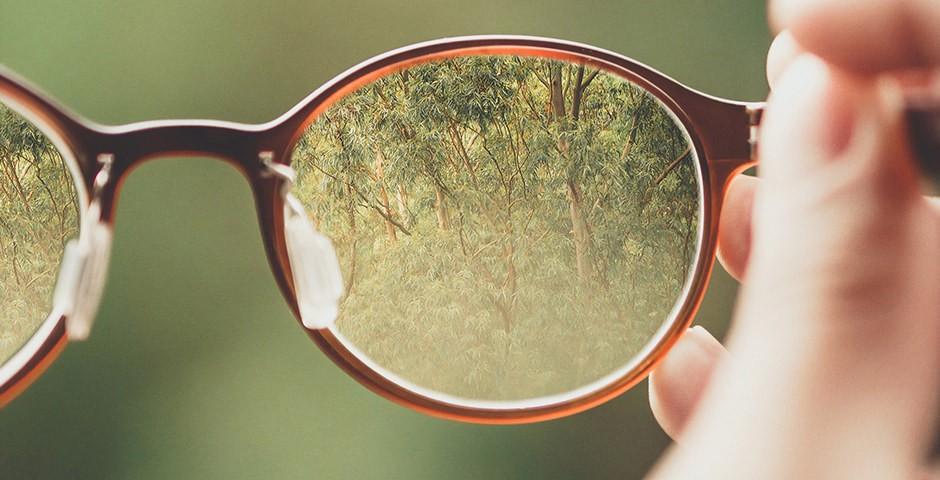 Brille von nah