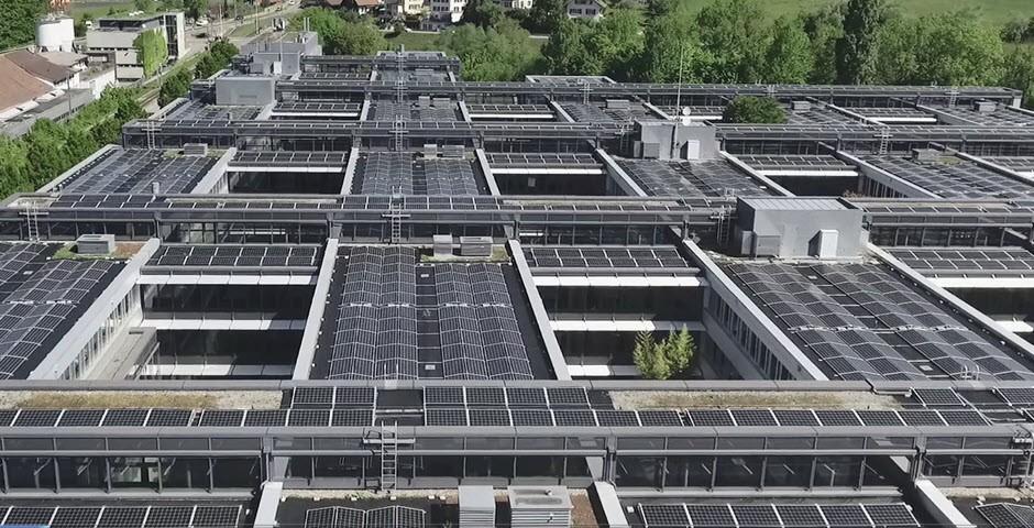 Solarpannels auf Hausdächern